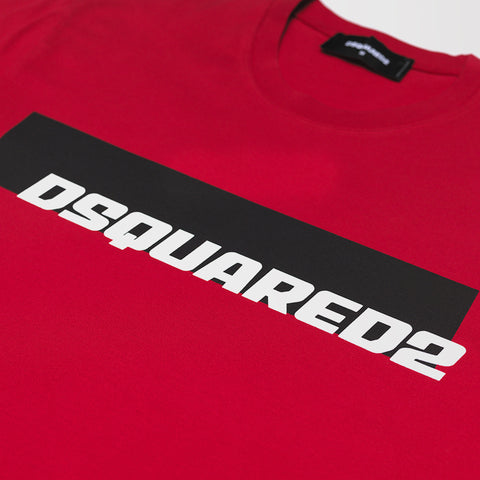 DSQUARED2 PRINT T-SHIRT RED