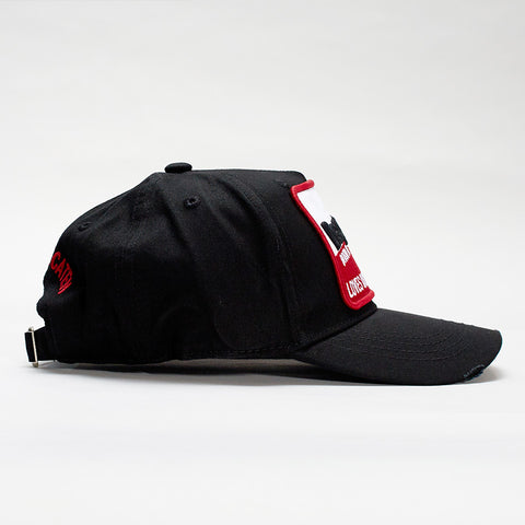 DSQUARED2 PATCH EMBROIDERED BASEBALL CAP BLACK