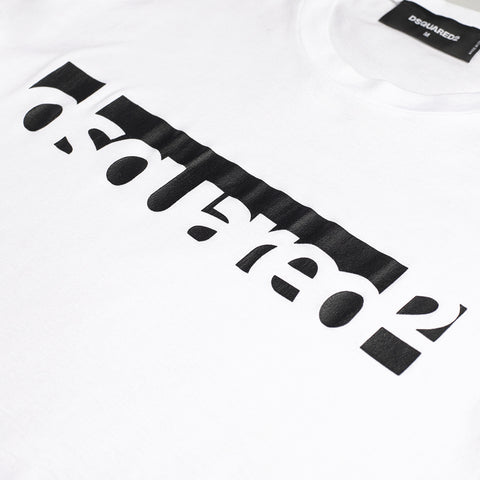 DSQUARED2 LOGO PRINT T-SHIRT WHITE