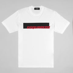 DSQUARED2 PRINT T-SHIRT WHITE