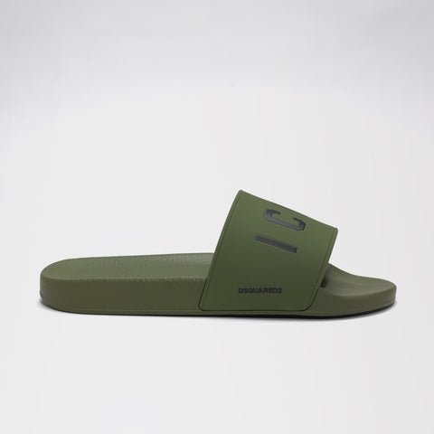 DSQUARED2 ICON POOL SLIDES GREEN
