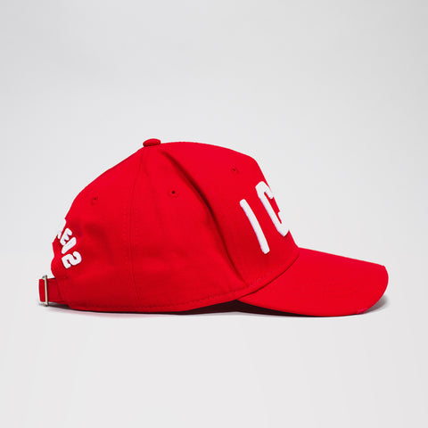 DSQUARED2 ICON BASEBALL CAP RED