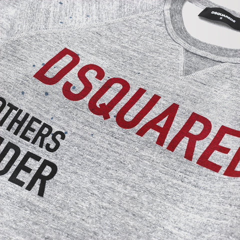 DSQUARED2 BRANDED SWEATSHIRT GREY