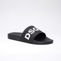 DSQUARED2 POOL SLIDES BLACK/WHITE