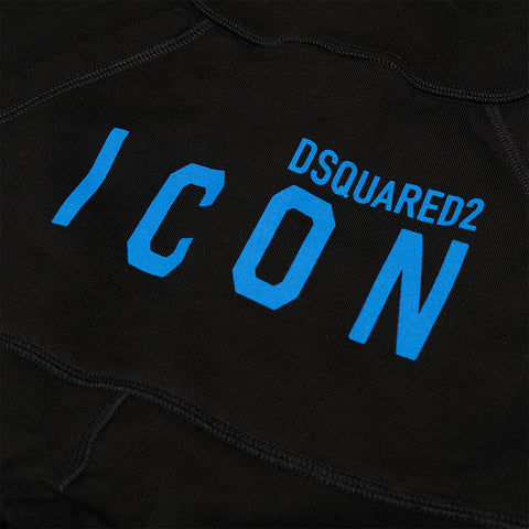DSQUARED2 BLUE ICON LOGO JOGGING BOTTOMS BLACK