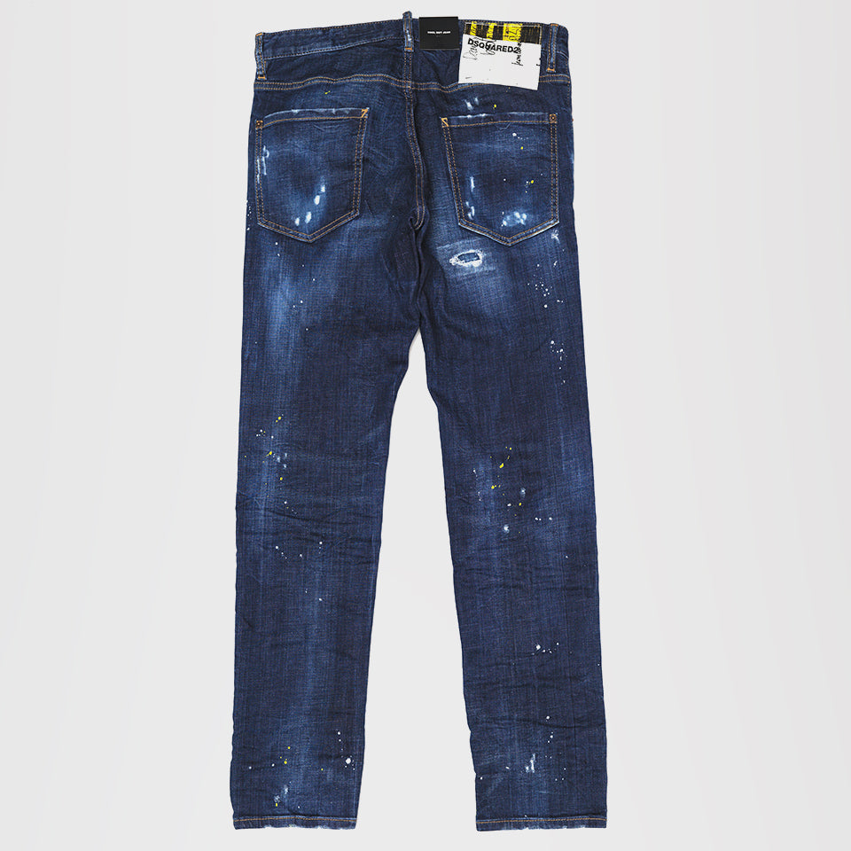 DSQUARED2 TWIST DENIM JEANS BLUE