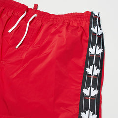 DSQUARED2 MAPLE LEAF SWIM SHORTS RED