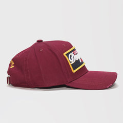 DSQUARED2 EMBROIDERED BASEBALL CAP MAROON