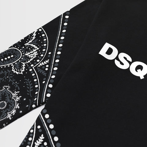 DSQUARED2 BANDANNA PRINT SWEATSHIRT BLACK