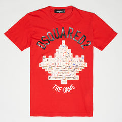 DSQUARED2 BORN THE GAME T-SHIRT RED