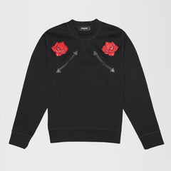 DSQUARED2 ROSE SWEATSHIRT BLACK