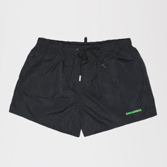 DSQUARED2 GREEN ICON PRINT SWIM SHORTS BLACK