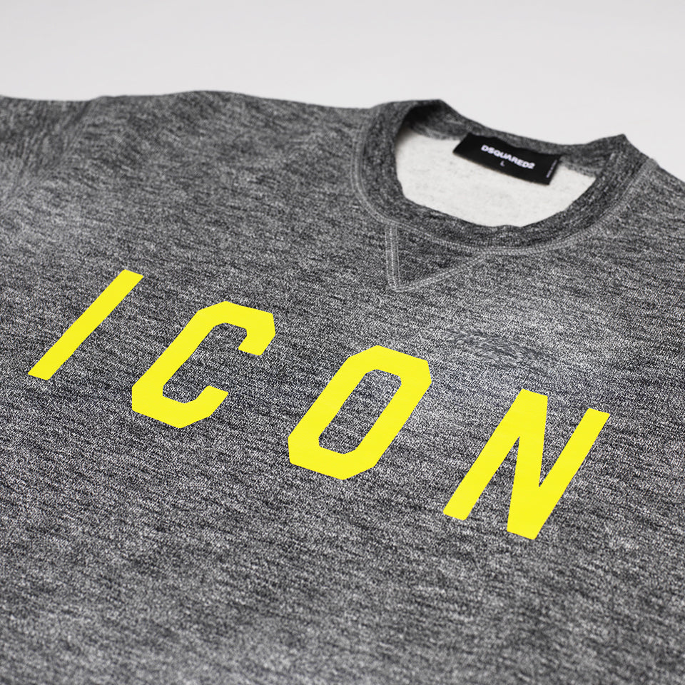DSQUARED2 YELLOW ICON SWEATSHIRT GREY