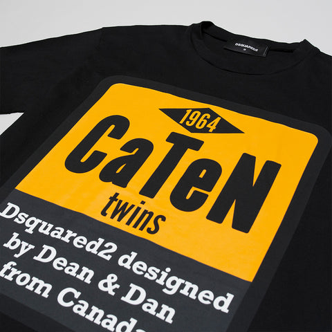 DSQUARED2 CATEN TWINS T-SHIRT BLACK