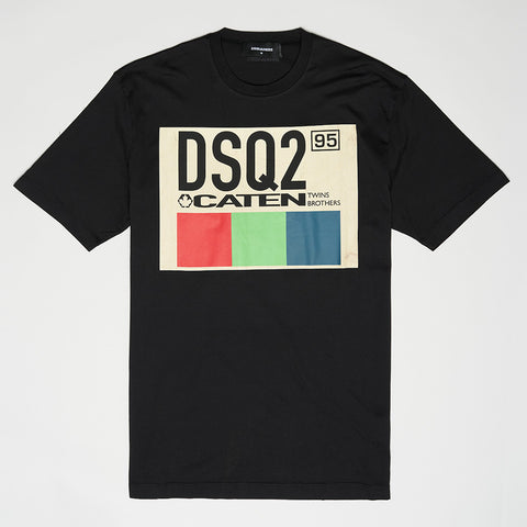 DSQUARED2 DSQ2 CATEN T-SHIRT BLACK