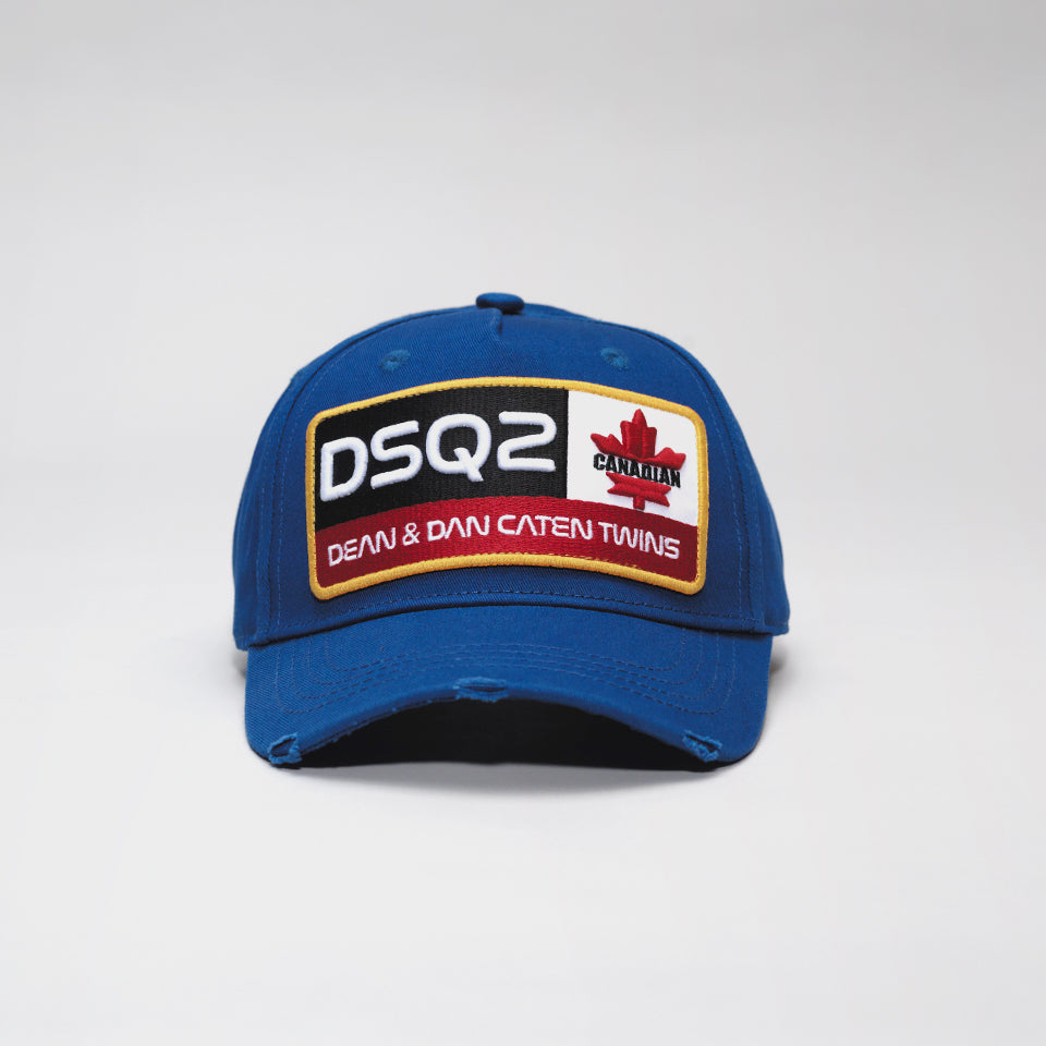 DSQUARED2 DSQ2 BASEBALL CAP ROYAL BLUE
