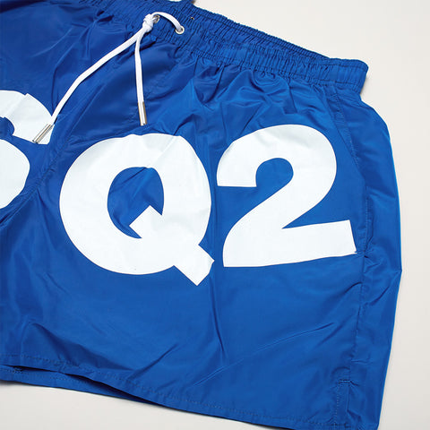 DSQUARED2 DSQ2 PRINT SWIM SHORTS BLUE/WHITE