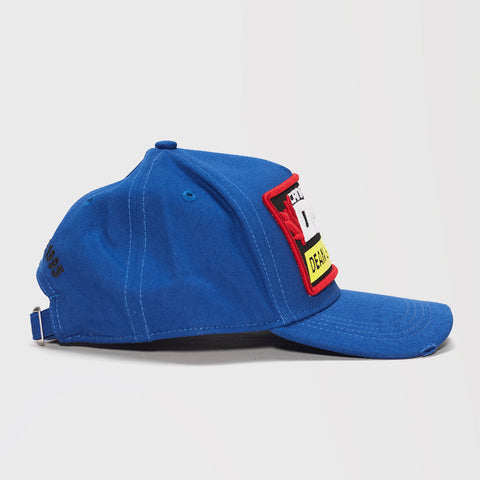DSQ2 EMBROIDERED BASEBALL CAP BLUE