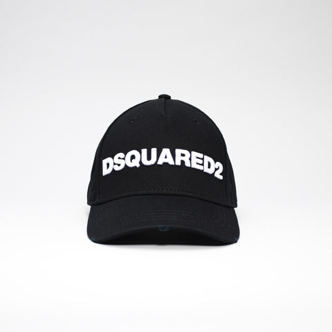 DSQUARED2 LOGO EMBROIDERED BASEBALL CAP BLACK