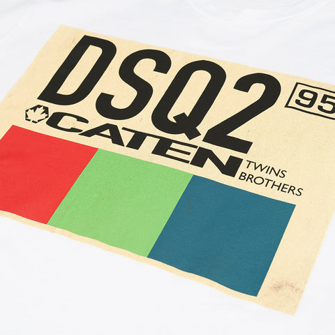 DSQUARED2 DSQ2 CATEN T-SHIRT WHITE