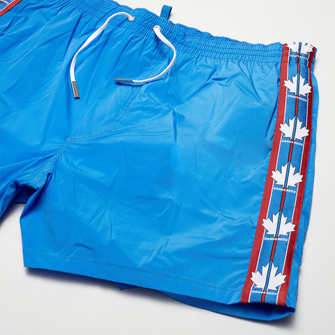 DSQUARED2 MAPLE LEAF SWIM SHORTS BLUE