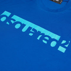 DSQUARED2 LOGO PRINT T-SHIRT BLUE