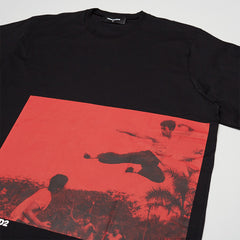 DSQUARED2 BRUCE LEE PRINTED T-SHIRT BLACK/RED