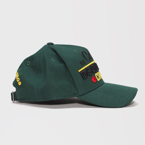 DSQUARED2 CANANDA EMBROIDERED BASEBALL CAP GREEN