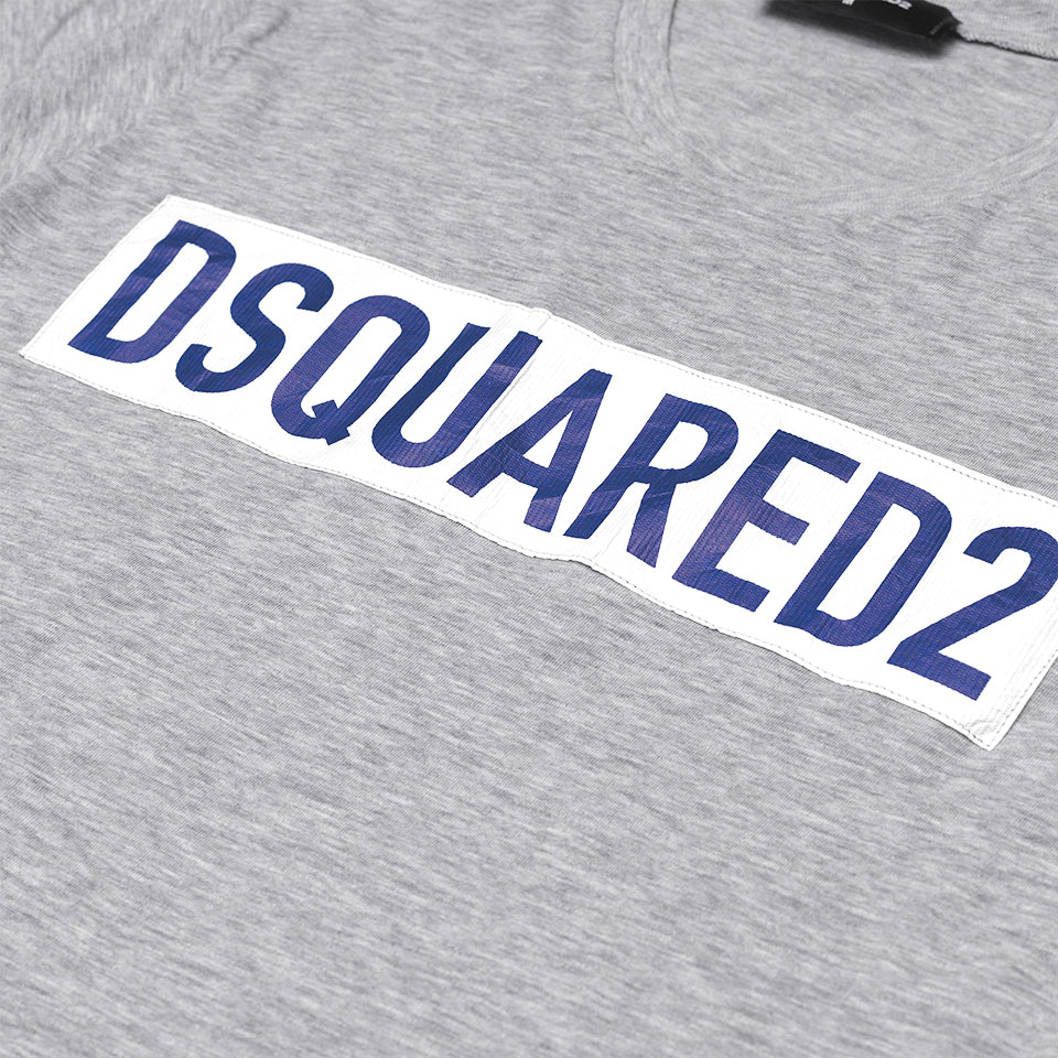 DSQUARED2 LOGO PRINT T-SHIRT GREY
