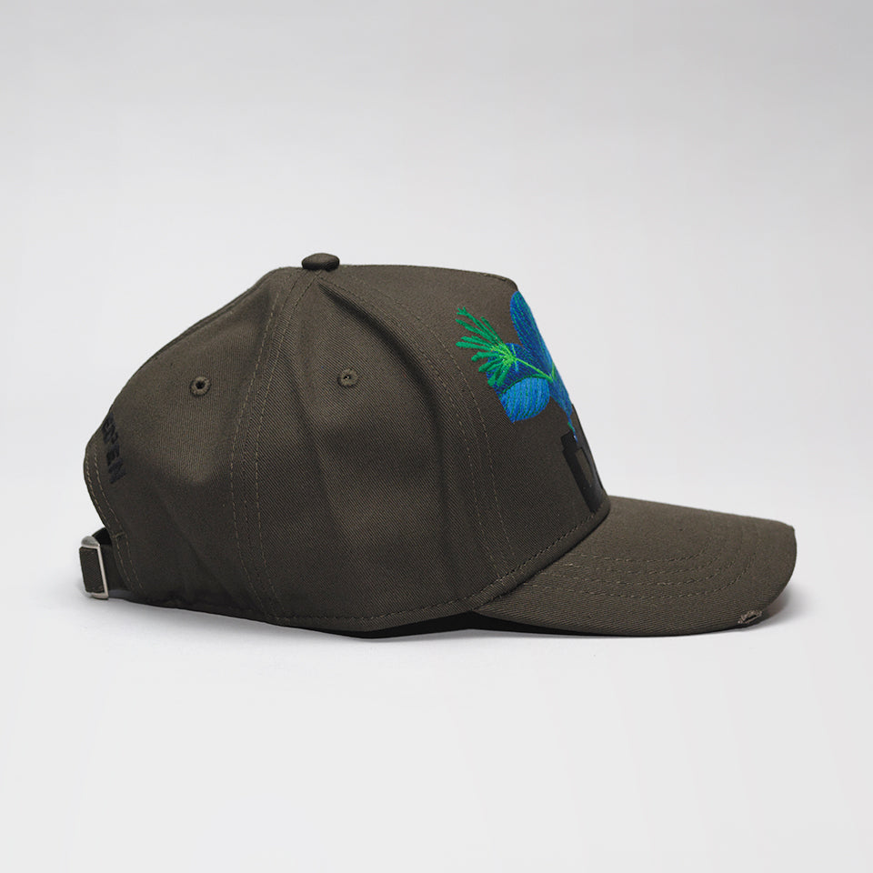 DSQUARED2 DSQ2 BASEBALL CAP GREEN