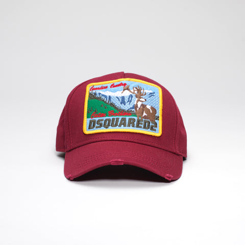 DSQUARED2 CANADIAN COUNTRY EMBROIDERED CAP