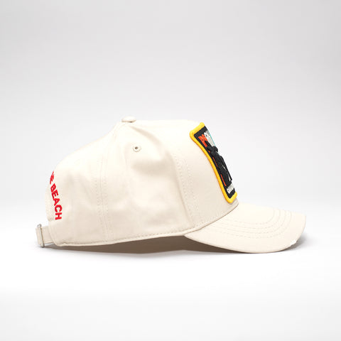 DSQUARED2 CANADIAN DREAMING PATCH BASEBALL CAP BEIGE