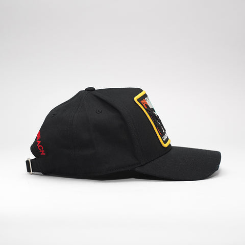 DSQUARED2 CANADIAN DREAMING PATCH BASEBALL CAP BLACK
