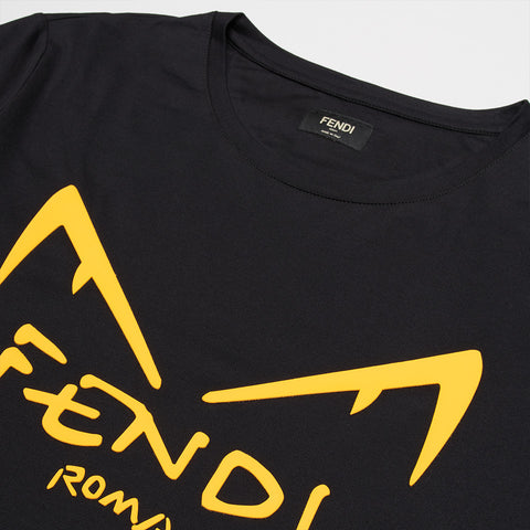 FENDI DIABOLIC EYES T-SHIRT BLACK