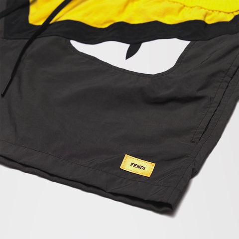 FENDI BAD BUG SHORT SWIM SHORTS YELLOW