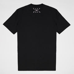 FENDI SLOGAN PRINT T-SHIRT BLACK