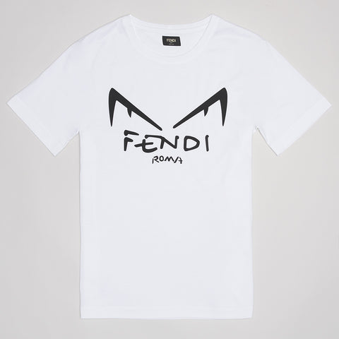FENDI DIABOLIC EYES T-SHIRT WHITE