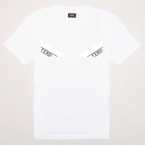 FENDI BAG BUGS REFLECTIVE EYES T-SHIRT WHITE