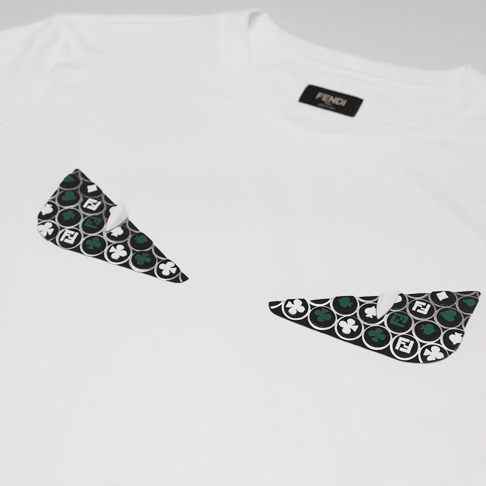 FENDI BAD BUGS EYES T-SHIRT WHITE