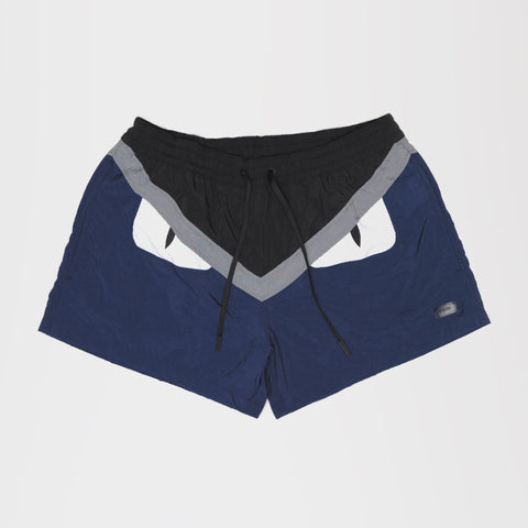 FENDI BAD BUG SHORT SWIM SHORTS BLUE