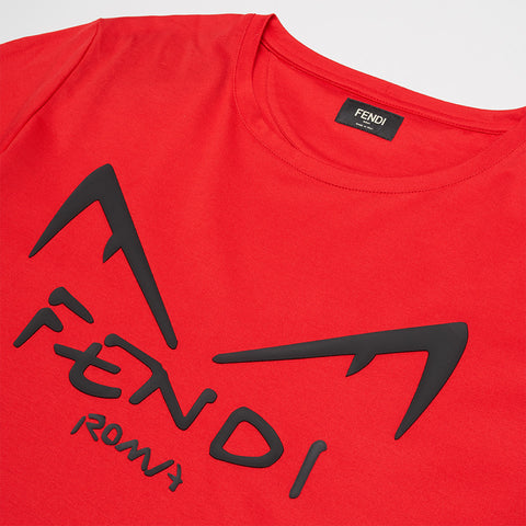 FENDI DIABOLIC EYES T-SHIRT RED