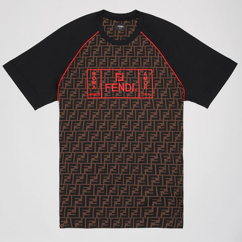 FENDI FF ROMA/AMOR T-SHIRT BLACK