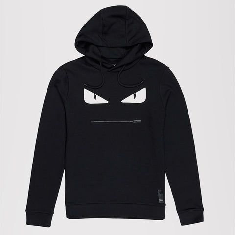 FENDI FELPA CAPPUCCI MONSTER FENDI HOODIE BLACK