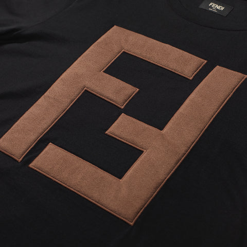 FENDI FF LOGO T-SHIRT BLACK