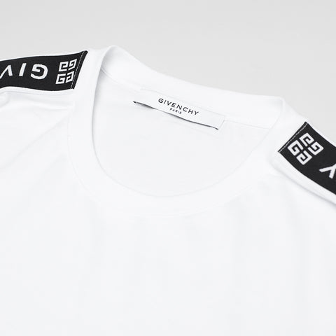 GIVENCHY LOGO SLEEVE PRINT T-SHIRT WHITE