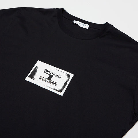 GIVENCHY LOGO PATCH T-SHIRT BLACK