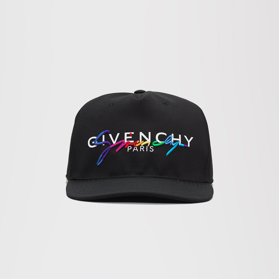 GIVENCHY MULTI COLOUR LOGO CAP BLACK