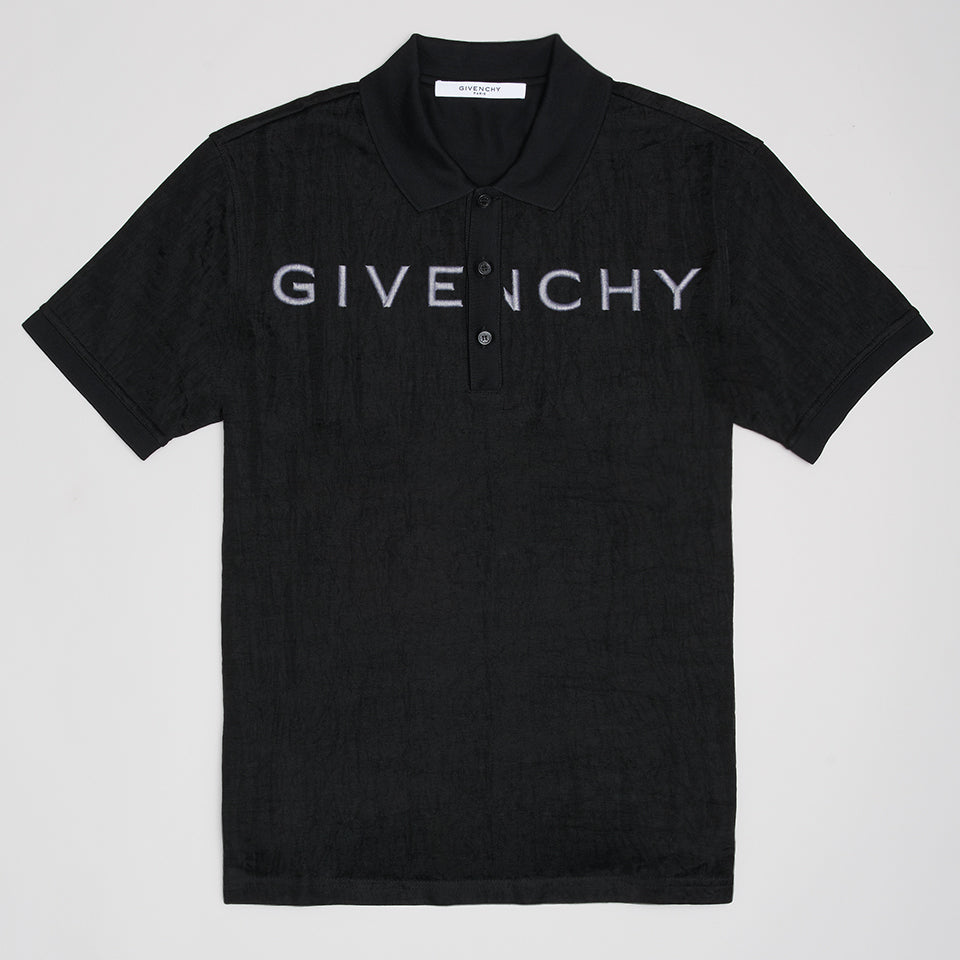 GIVENCHY COTTON-PIQUE POLO SHIRT BLACK