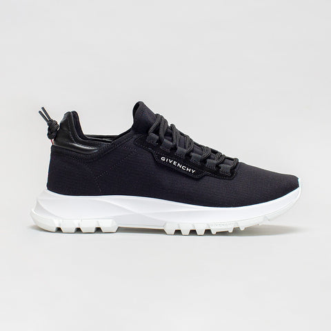 GIVENCHY RIPSTOP LOW TOP RUNNING SNEAKERS BLACK