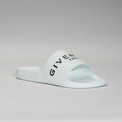 GIVENCHY 3D LOGO SLIDES WHITE